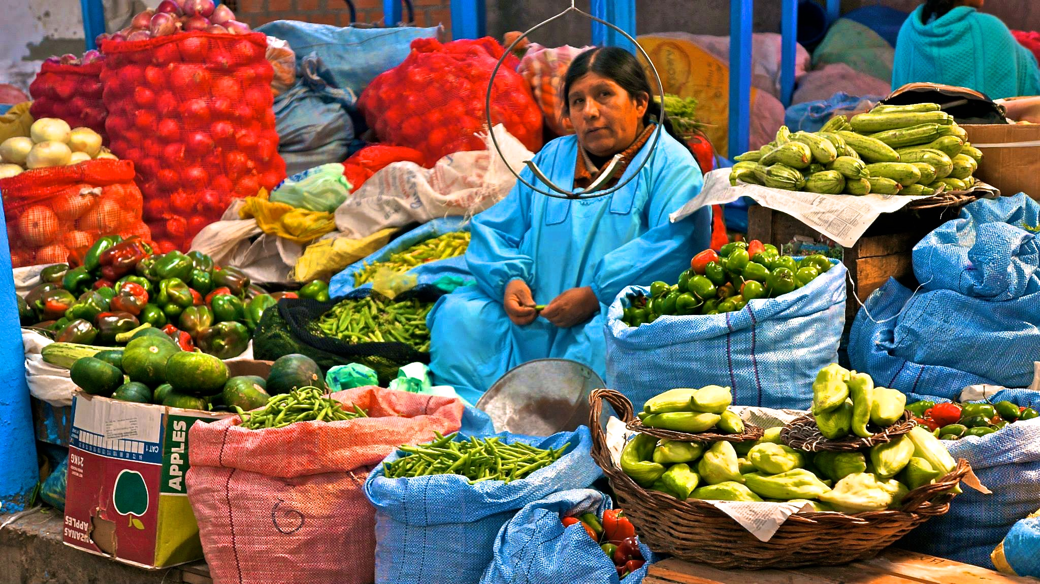 Always a good idea to go to the market - in La Paz