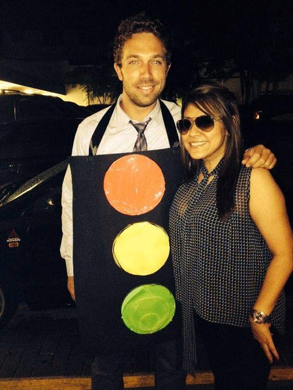 My Gringo (Green-Go) Halloween costume in Costa Rica.  The neon glow sticks didn't really light up too well.  #FAIL