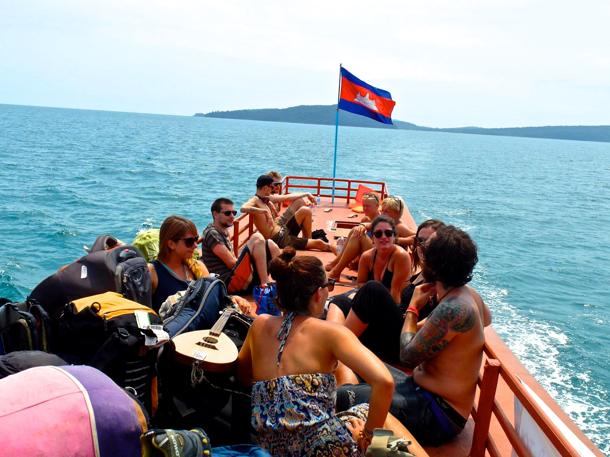 Backpacker life - on the boat to Koh Rong