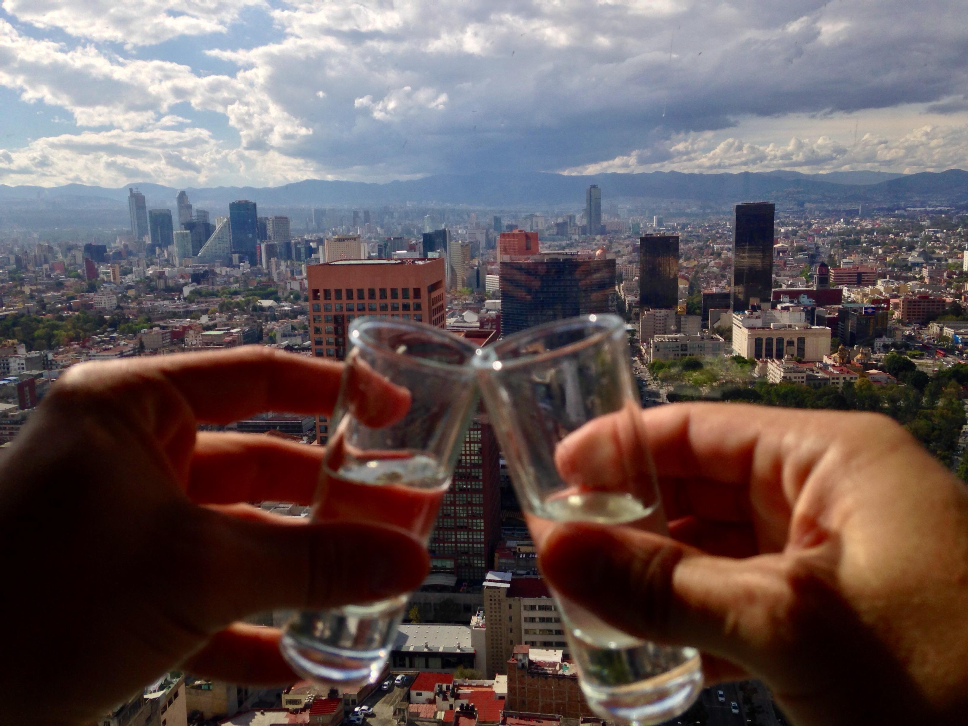 Mezcal & a good view - cheers