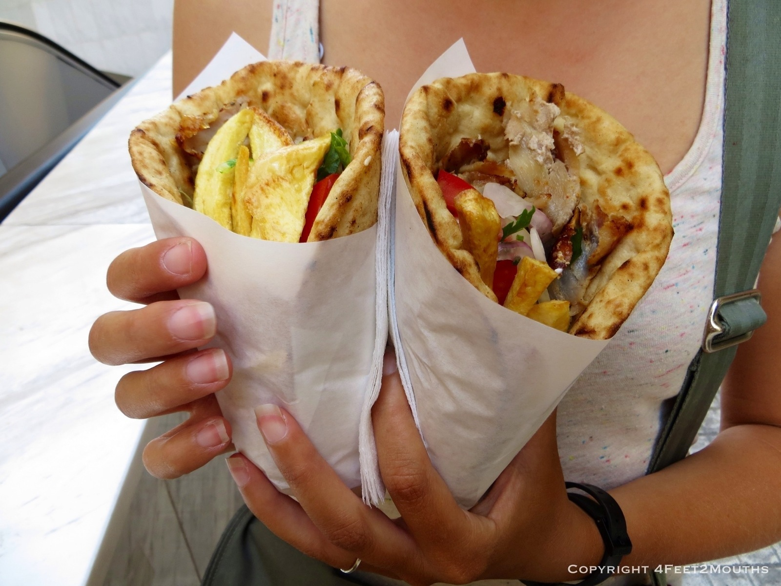 Gyros in Greece - so cheap, why not 2?