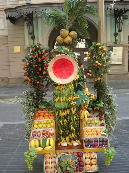 That's a fruit stand AND a human being
