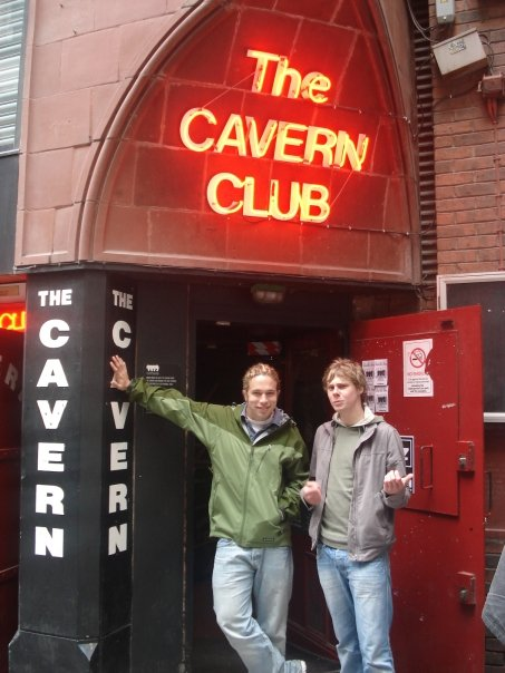 Adam in Liverpool showing me The Cavern Club - where The Beatle's got their start