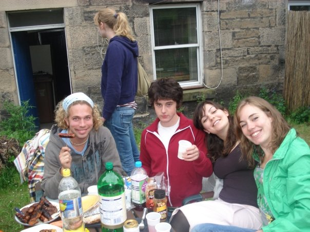 Scottish BBQ in Ediburgh with a group of Couchsurfers