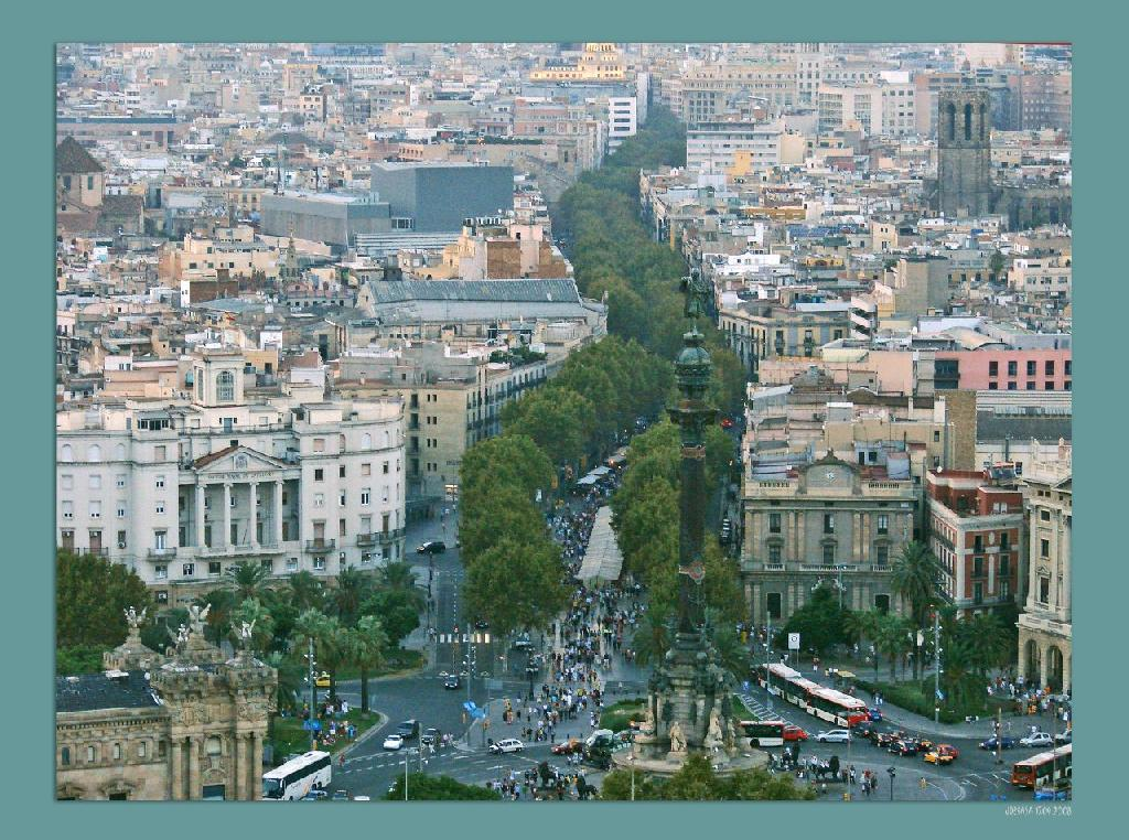 La Rambla from the air