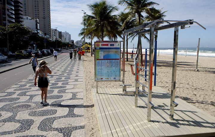 These exercise stations are everywhere on the beaches