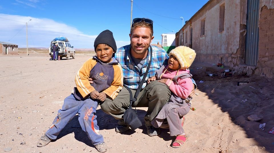 "With the ""niños"" in Bolivia"